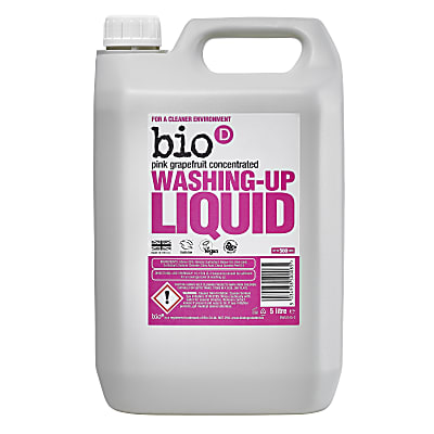 Bio-D Concentrated Washing-up Liquid with Pink Grapefruit - 5L
