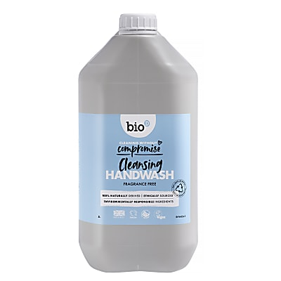 Bio-D Sanitising Fragrance Free Hand Wash Refill - 5L