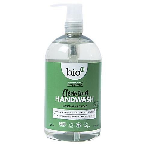 Bio-D Sanitising Hand Wash Rosemary & Thyme - 500ml