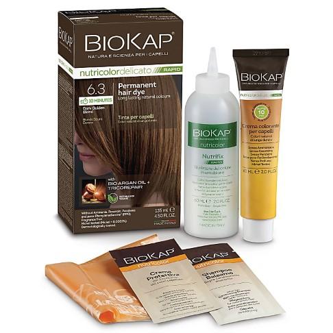 BIOKAP Dark Golden Blond 6.3 Rapid Hair Dye