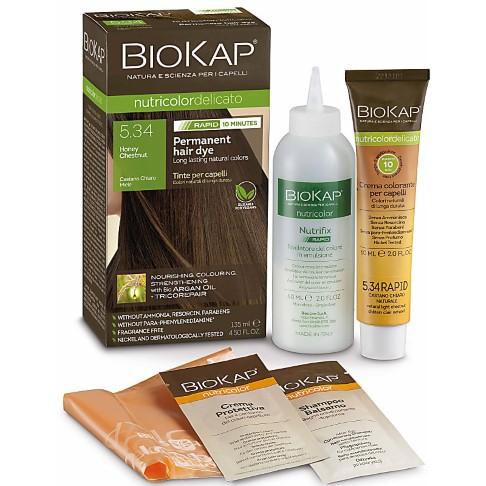 BIOKAP Honey Chestnut 5.34 Rapid Hair Dye