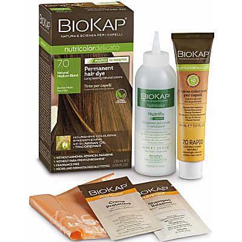 BIOKAP Natural Medium Blond 7.0 Rapid Hair Dye