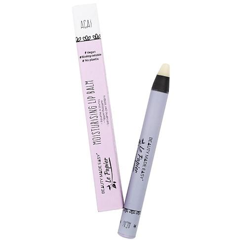 Beauty Made Easy Le Papier Plastic Free Moisturising Lip Balm - ACAI