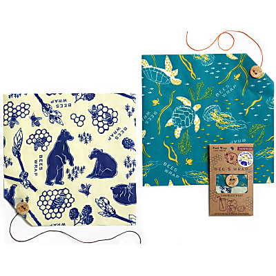 Bee's Wrap 2-Pack Sandwich Wrap - Wildlife Limited Edition