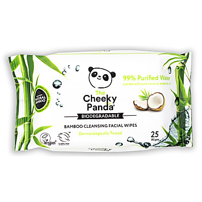 Cheeky Panda Bamboo Facial Cleansing Wipes - Coconut