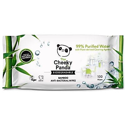 The Cheeky Panda Biodegradable Anti Bacterial Bamboo Multi Surface Wipes