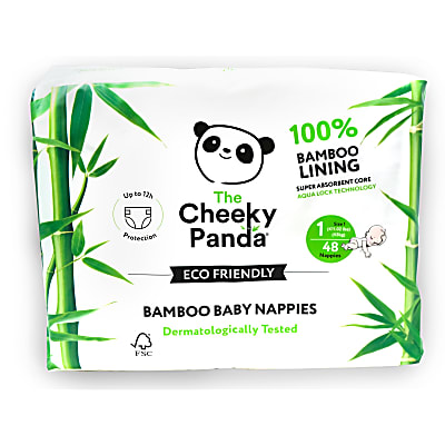 Cheeky Panda Eco-Friendly Bamboo Baby Nappies Size 1 (up to 11 lbs / 5 kg)