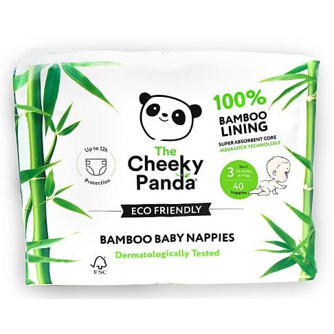 Cheeky Panda Eco-Friendly Bamboo Baby Nappies Size 3 (13-24 lbs/ 6-11 kg)