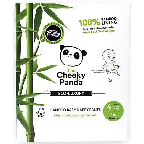 Cheeky Panda Eco-Friendly Bamboo Baby Nappies Size 4 (19-30 lbs/ 9-14 kg)
