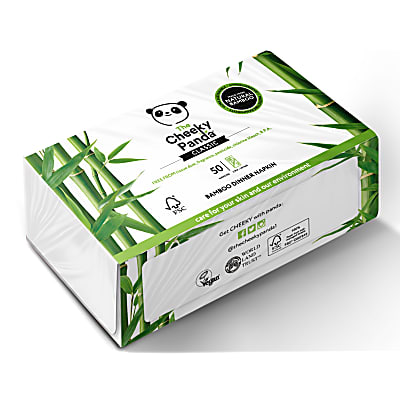 The Cheeky Panda Bamboo Dinner Napkin Pack of 50