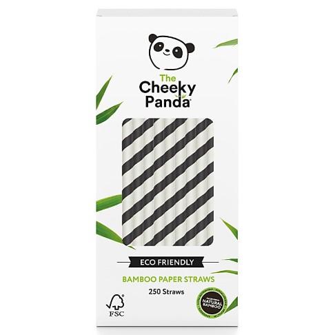 The Cheeky Panda Plastic Free Biodegradable Bamboo Straws Black & White
