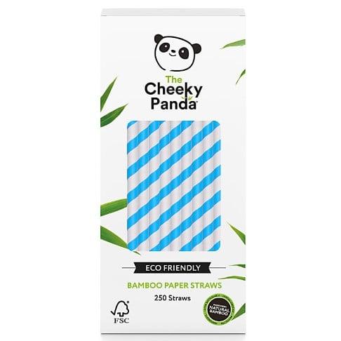 The Cheeky Panda Plastic Free Biodegradable Bamboo Straws Blue