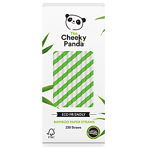 The Cheeky Panda Plastic Free Biodegradable Bamboo Straws - Green