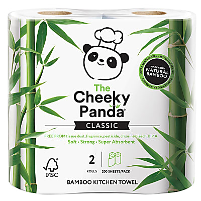 The Cheeky Panda Bamboo Kitchen Towel 2 rolls