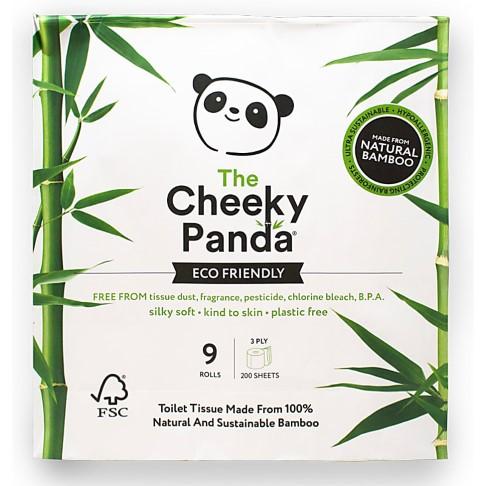 The Cheeky Panda FSC Certified Bamboo Toilet Tissue - 9 Rolls