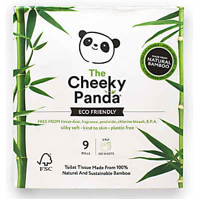 The Cheeky Panda Toilet Roll: FSC Certified Bamboo Toilet Paper 9 Rolls