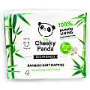 Cheeky Panda Eco-Friendly Bamboo Baby Nappies Size 2 (8.8 lbs -17.6 lbs/ 4-8 kg)