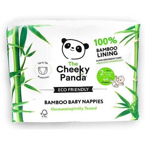 Cheeky Panda Eco-Friendly Bamboo Baby Nappies Size 2 (6.5-17 lbs/ 3-8 kg)