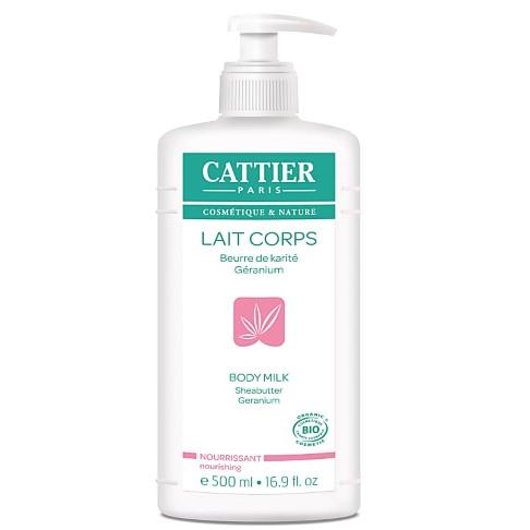 Cattier Shea Butter & Geranium Body Milk - 500 ml