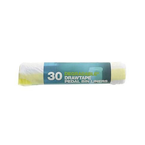 D2W 20 Litre Degradable Pedal Bin Bags with Drawtape