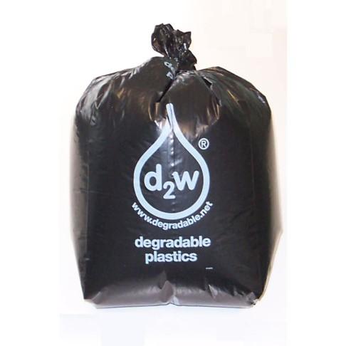 D2W - Box of 200 Black Degradable Refuse Sacks