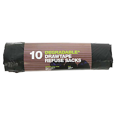 D2W 70 litre Degradable Refuse Sacks with Draw String