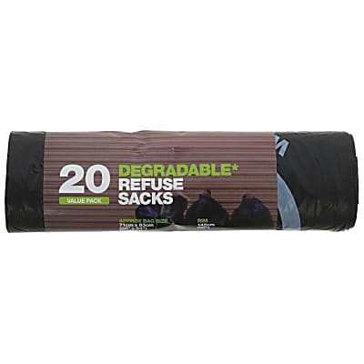 D2W Value Pack of 20 Degradable Bin Liners