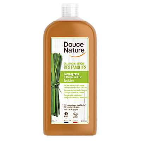 Douce Nature Family Shampoo & Shower Gel - Lemongrass 1L