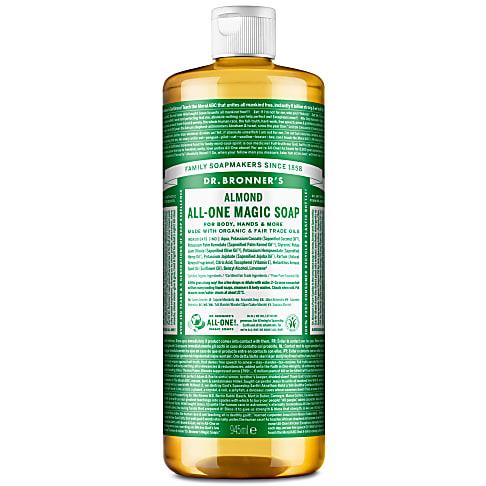 Dr. Bronner's Almond Castile Liquid Soap - 946ml