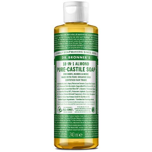 Dr. Bronner's Almond Castile Liquid Soap - 237ml