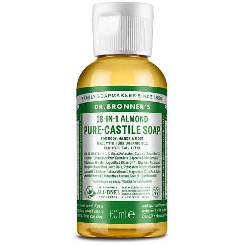 Dr. Bronner's Organic Almond Castile Liquid Soap - 60ml