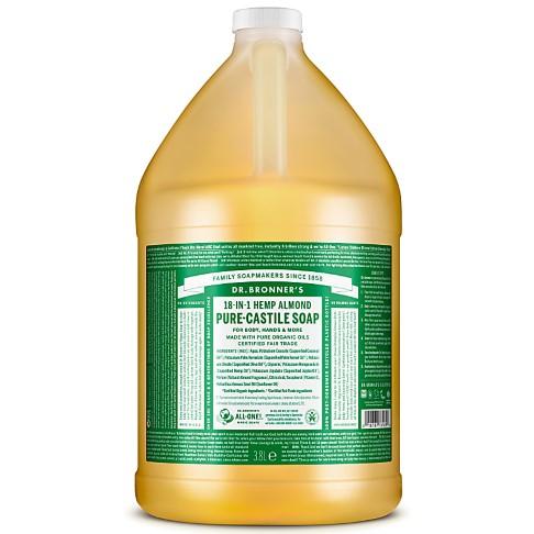 Dr. Bronner's Almond Castile Liquid Soap - 3.8L