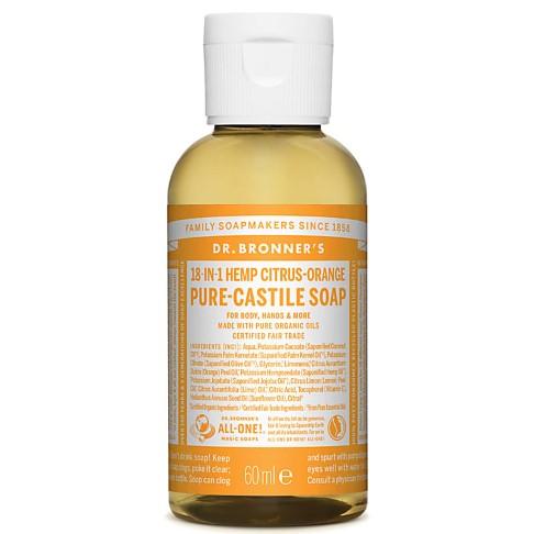 Dr. Bronner's Citrus Castile Liquid Soap - 60ml