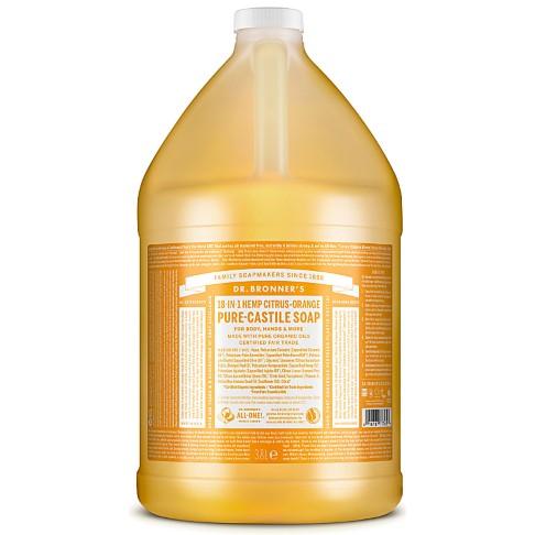 Dr. Bronner's Citrus Orange Castile Liquid Soap - 3.8L