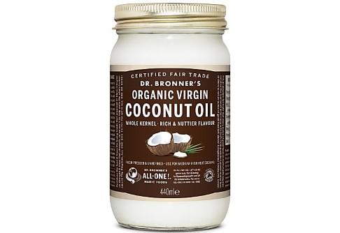 Dr Bronner's Organic Virgin Coconut Oil Whole Kernel - 440ml