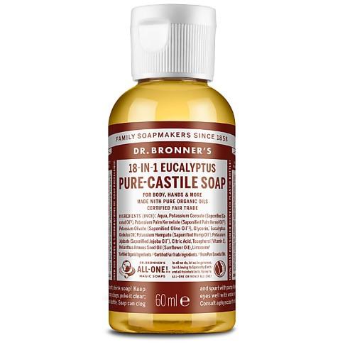Dr. Bronner's Eucalyptus Castile Liquid Soap - 60ml