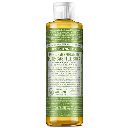 Dr. Bronner's Green Tea Castile Liquid Soap - 237ml