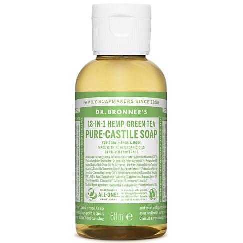Dr. Bronner's Green Tea Castile Liquid Soap - 60ml