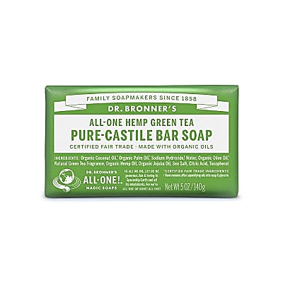 Dr. Bronner's Green Tea Organic Soap Bar