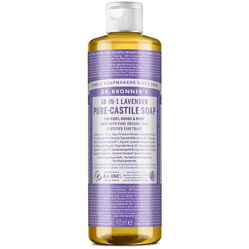 Dr. Bronner's Lavender Castile Liquid Soap - 473ml