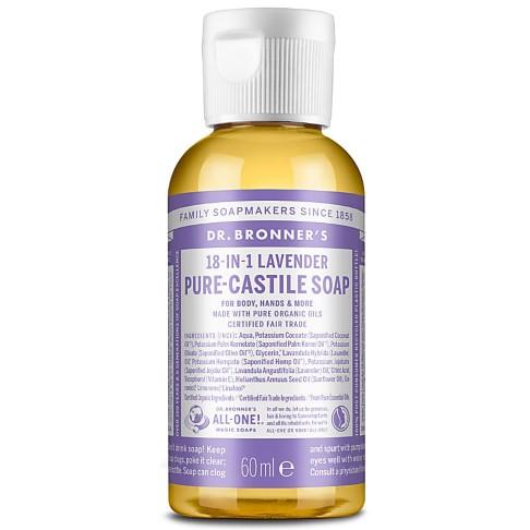 Dr. Bronner's Lavender Castile Liquid Soap - 60ml