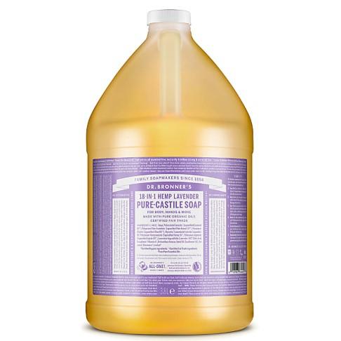 Dr. Bronner's Lavender Castile Liquid Soap - 3.8L