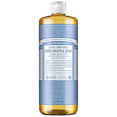 Dr. Bronner's Baby Unscented Castile Liquid Soap - 946ml