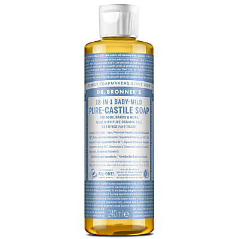 Dr. Bronner's Baby Unscented Castile Liquid Soap - 237ml