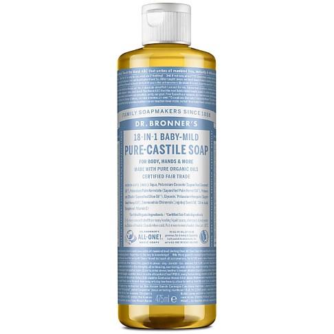 Dr. Bronner's Baby Unscented Castile Liquid Soap - 472ml