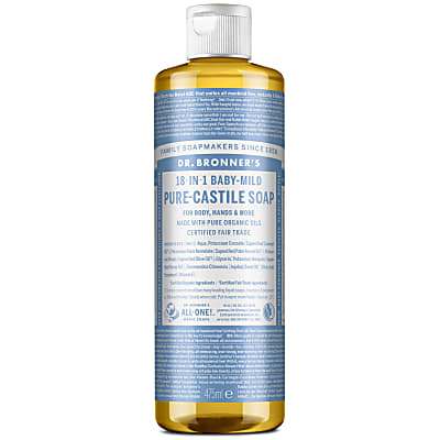 Dr. Bronner's Baby Unscented Castile Liquid Soap - 472ml