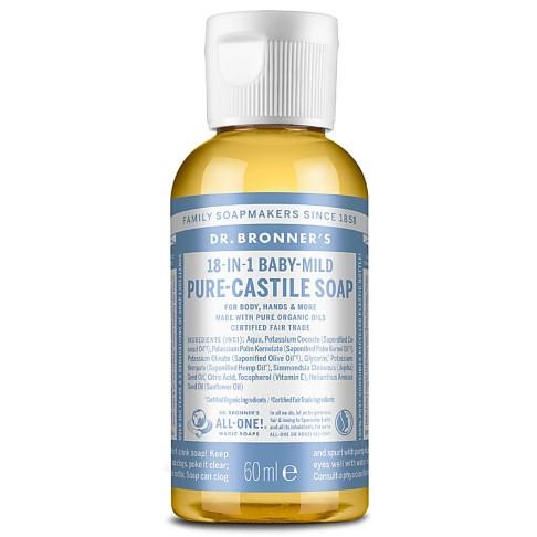 Dr. Bronner's Baby Unscented Castile Liquid Soap - 59ml