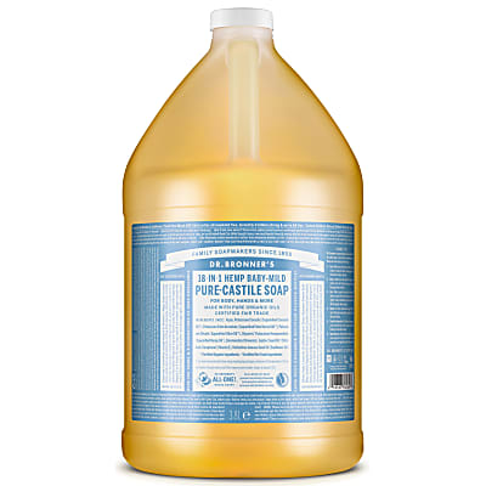 Dr. Bronner's Baby Unscented Castile Liquid Soap - 3.8L