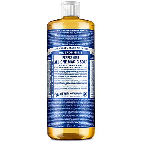 Dr. Bronner's Peppermint Castile Liquid Soap - 946ml