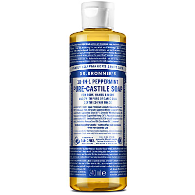 Dr. Bronner's Peppermint Castile Liquid Soap - 237ml